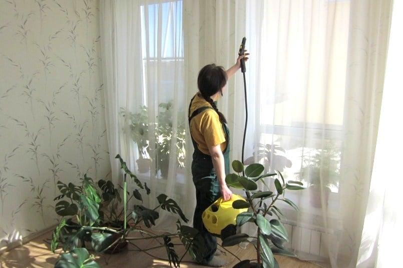 Химическая чистка штор с выездом на дом
